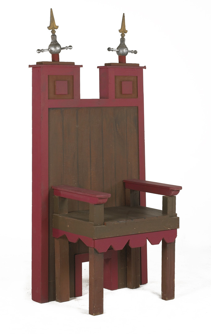 Medieval Throne prop hire - Staging Services