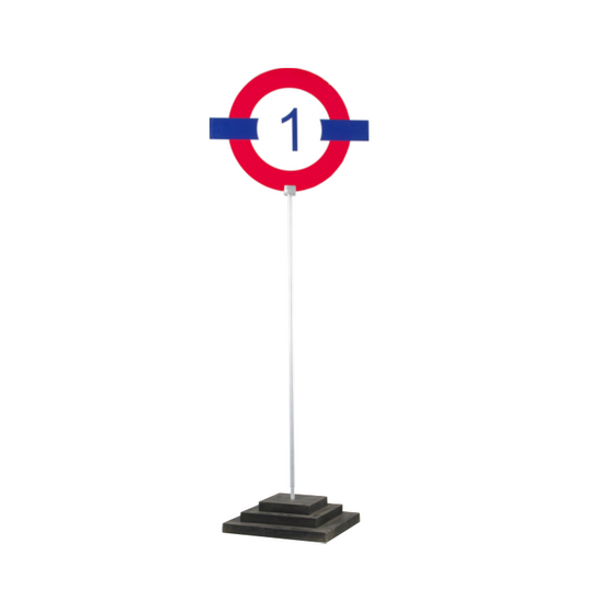 Numbered London Tube Table Centre Piece