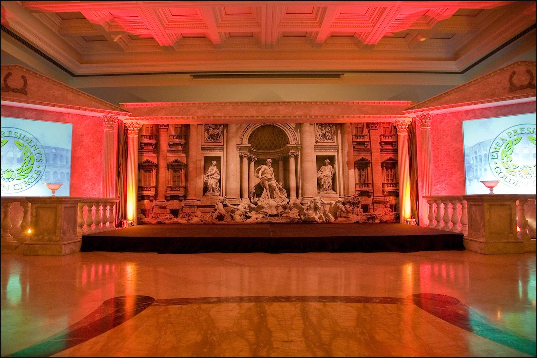 Roman Marble Pediment hire - staging services