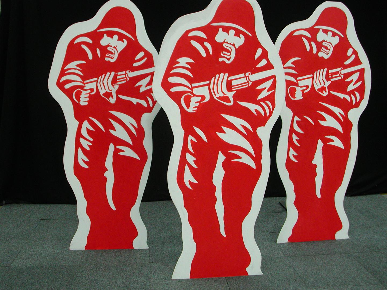 Soldier Target - James Bond - Prop Hire - Staging Services