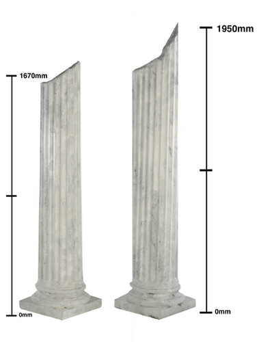 Atlantis - broken columns - prop hire - staging services