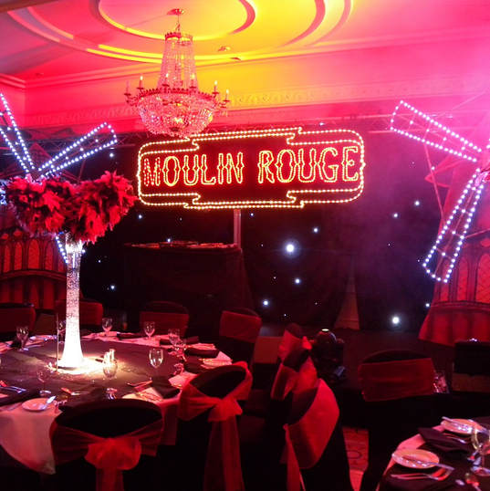 Moulin Rouge Stage Decor and Lighting