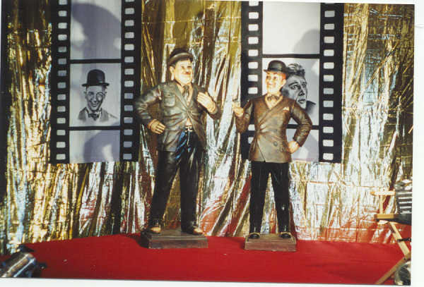 Oliver Hardy Statue Staging Services