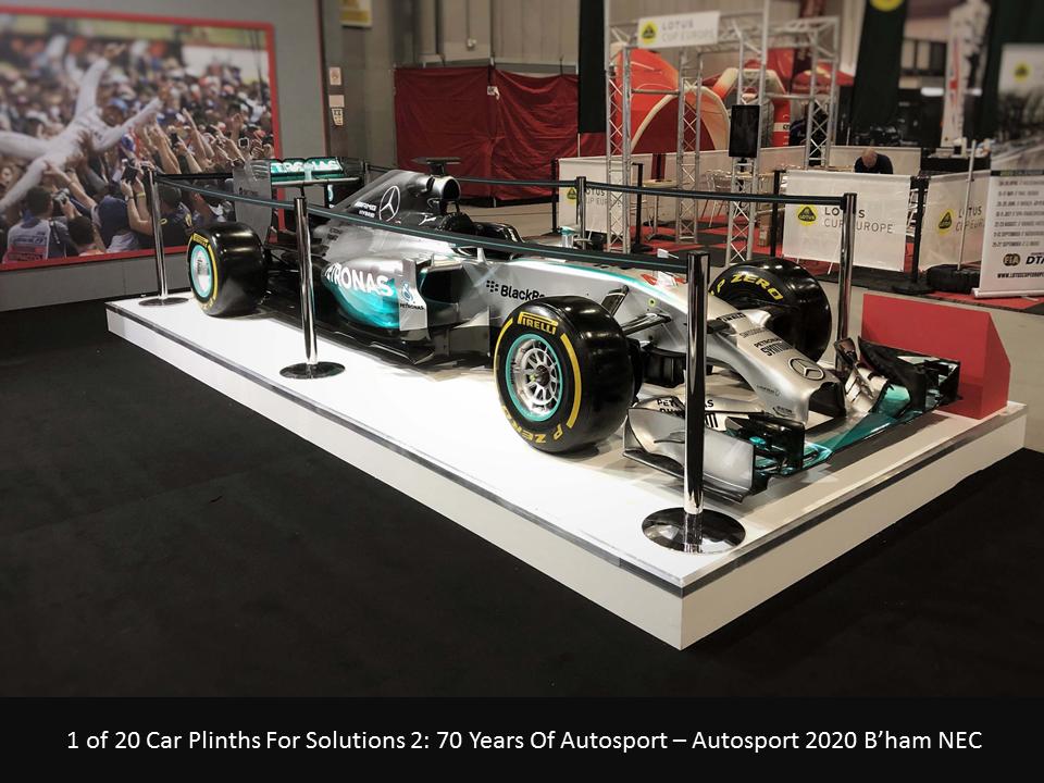 Mercedes F1 Autosport Car Plinth