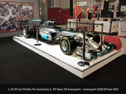 Mercedes F1 Autosport Car Plinth