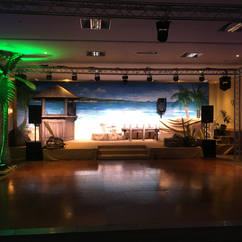 Caribbean Party Themed Event Backdrop