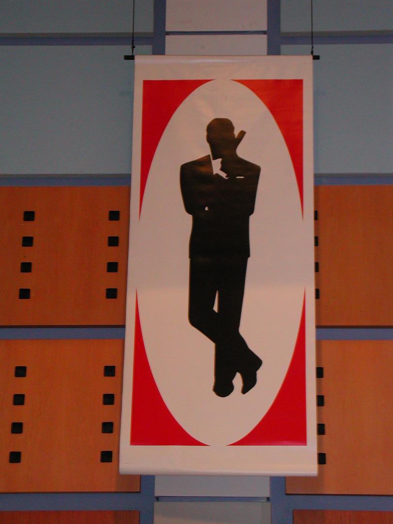 007 Silouette Banner - James Bond prop hire - Staging Services