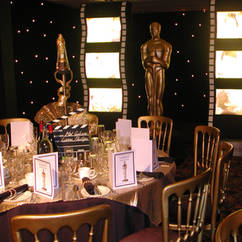 Hollywood Table Centres & Film Roll Light Boxes.