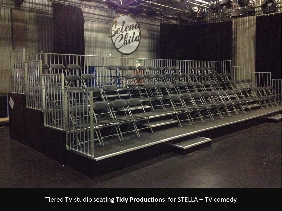 tv studio tiered seating 1