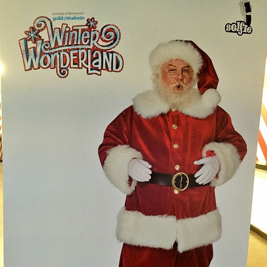 6ft Father Christmas Selfie Backdrop