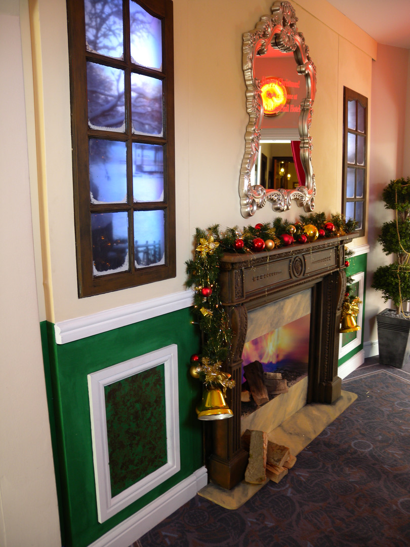 Christmas Fireplace Prop Hire - Staging Services