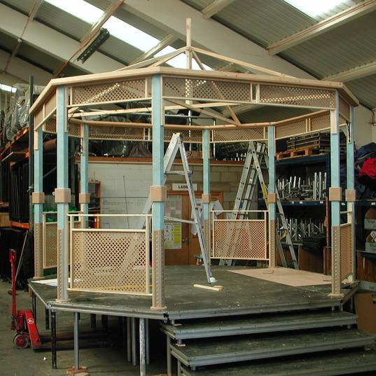 Garden Bandstand Under Construction