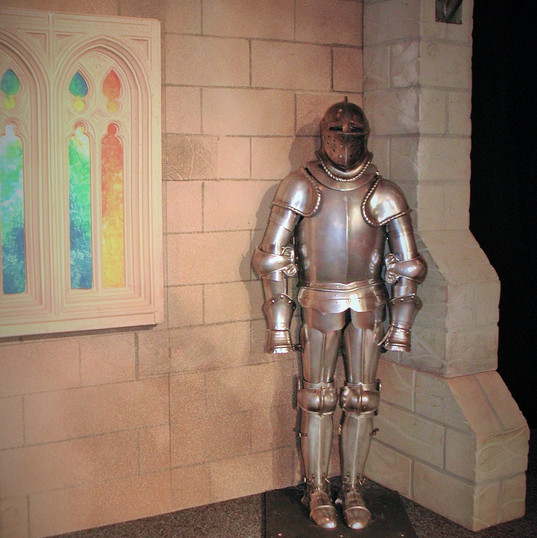 Medieval Stage & Set with Suit Of Armour