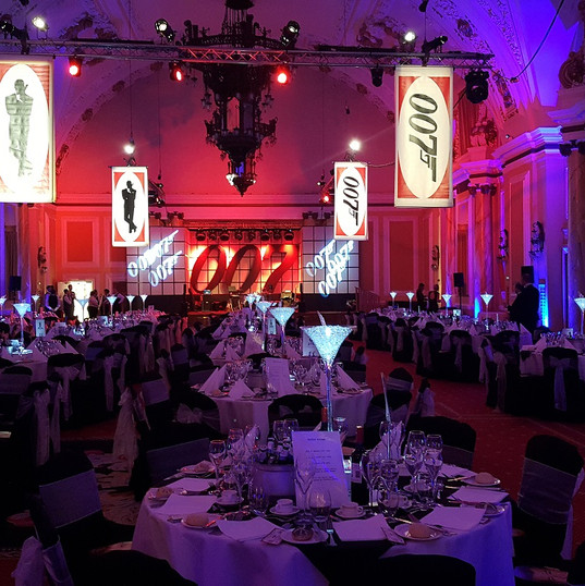 James Bond Themed Event Banquet