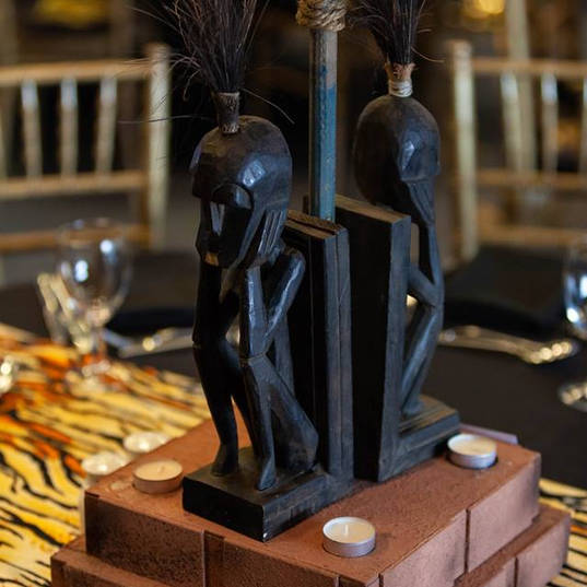 Wooden Tribal Carving Table Centre