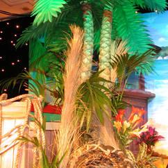 Base decoration of palm tree