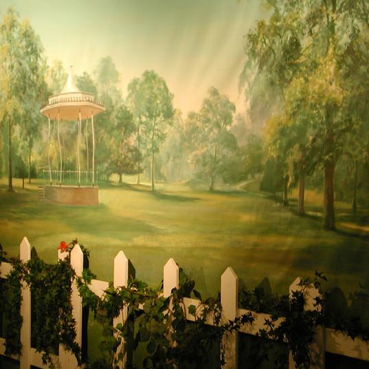 English Garden Theming Photo Backdrop