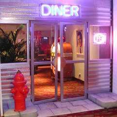 American Diner Entrance Feature Photo Backdrop Set