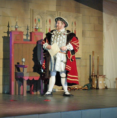 Henry VIII on Stage with Medieveal Stage Set