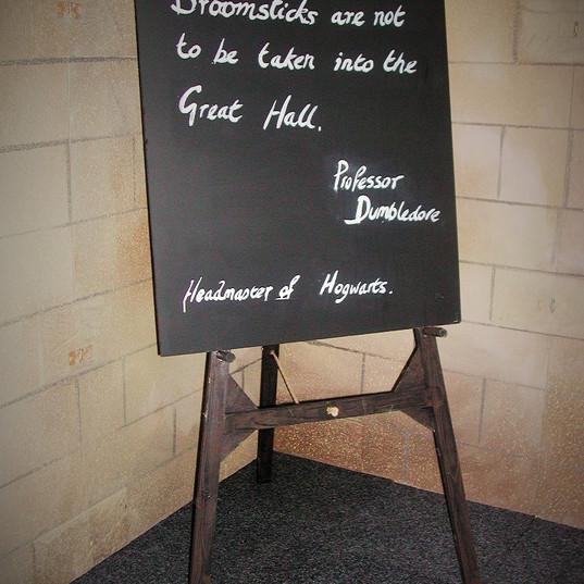 Hogwarts Classroom Blackboard