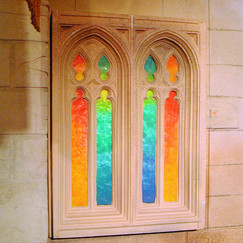 Hogwarts Castle Stained Glass Window
