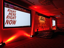 Great looking conference sets by staging services