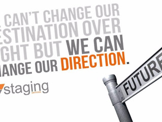It's all change ahead… a new year and a new direction for Staging Services.
