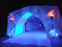 Narnia Ice Tunnel - ServiceProp Hire - Stagins