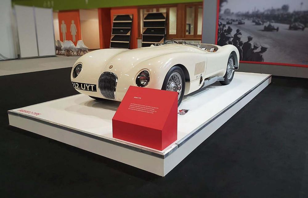 Jaguar C -Type on Car Plinth