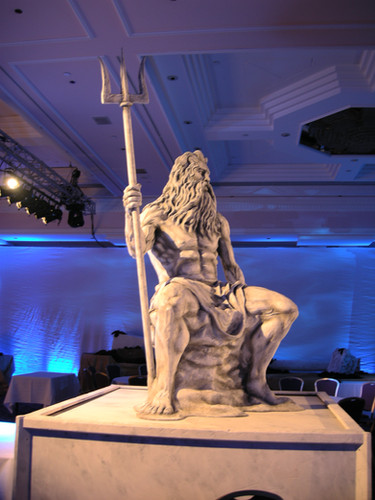 Neptune statue prop hire - staging services