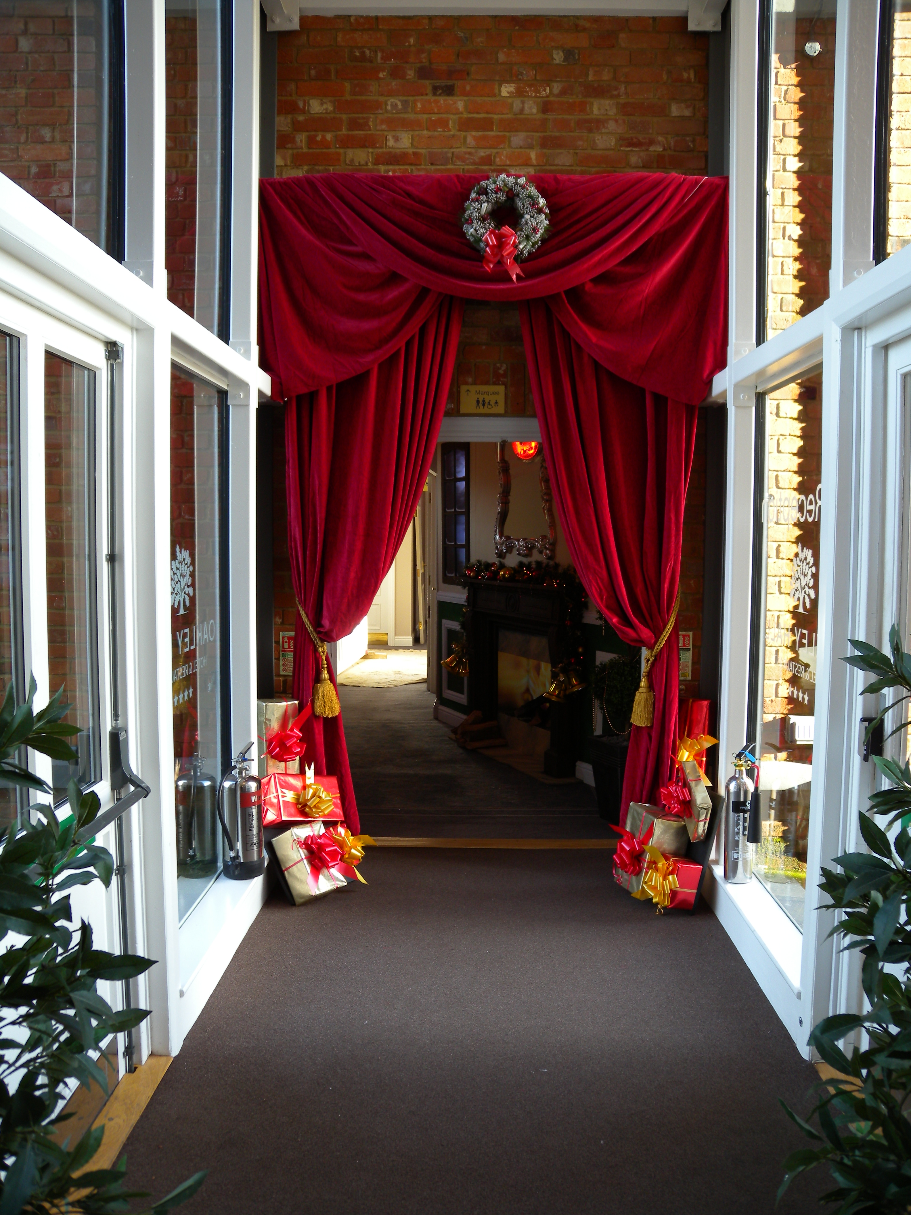 Entrance Drapes - Oakley Hall 2014