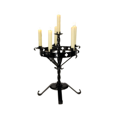 Numbered Wrough Iron Table Candelabra