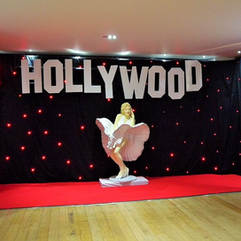Hollywood Photo Backdrop Entrance Feature