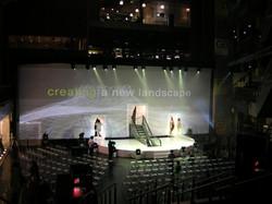 Cyc Backdrop and Circular Stage - Think Tank
