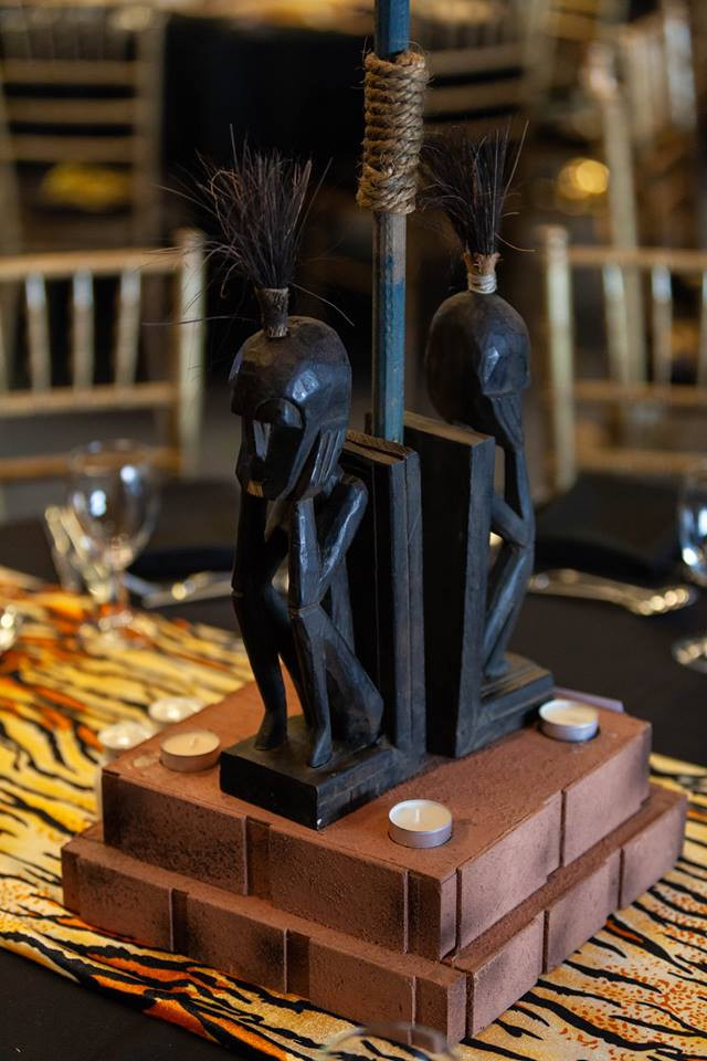 African Carved Table Centres - Prop Hire - Staging Services