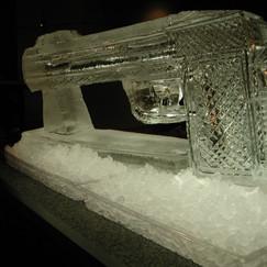 Ice Gun Sculpture James Bond Themed Events