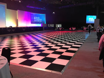 Black & White Dance Floor Hire - Staging Services