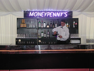 Neon Moneypenny's Sign - James Bond Prop Hire - Staging Services