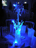 Narnia Ice Vase table centre - prop hire - Staging Services