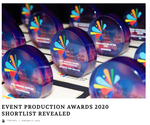 Event Production Awards 2020 Shortlist