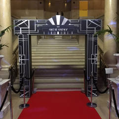 Great Gatsby Themed Entrance Feature