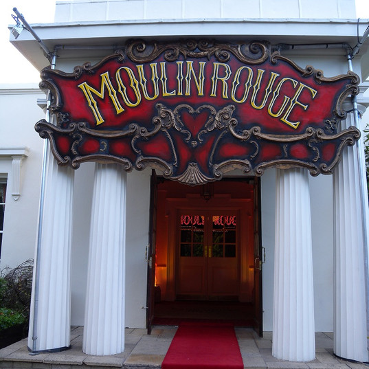 Moulin Rouge Sign over Parkhouse Entranc