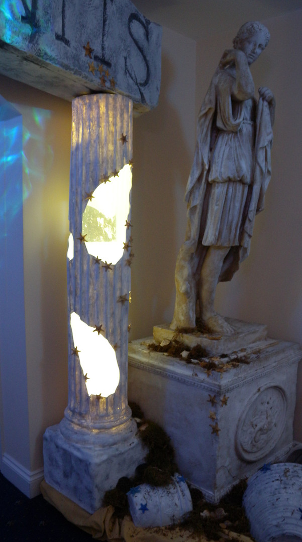 Statue of Justius - Lost City of Atlantis Prop Hire - Staging Services