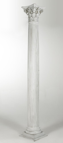 B&W - Marble Grained, Fluted, Corinthian