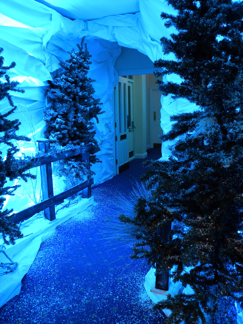 Winter Wonderland Entrace Feature - Staging Services