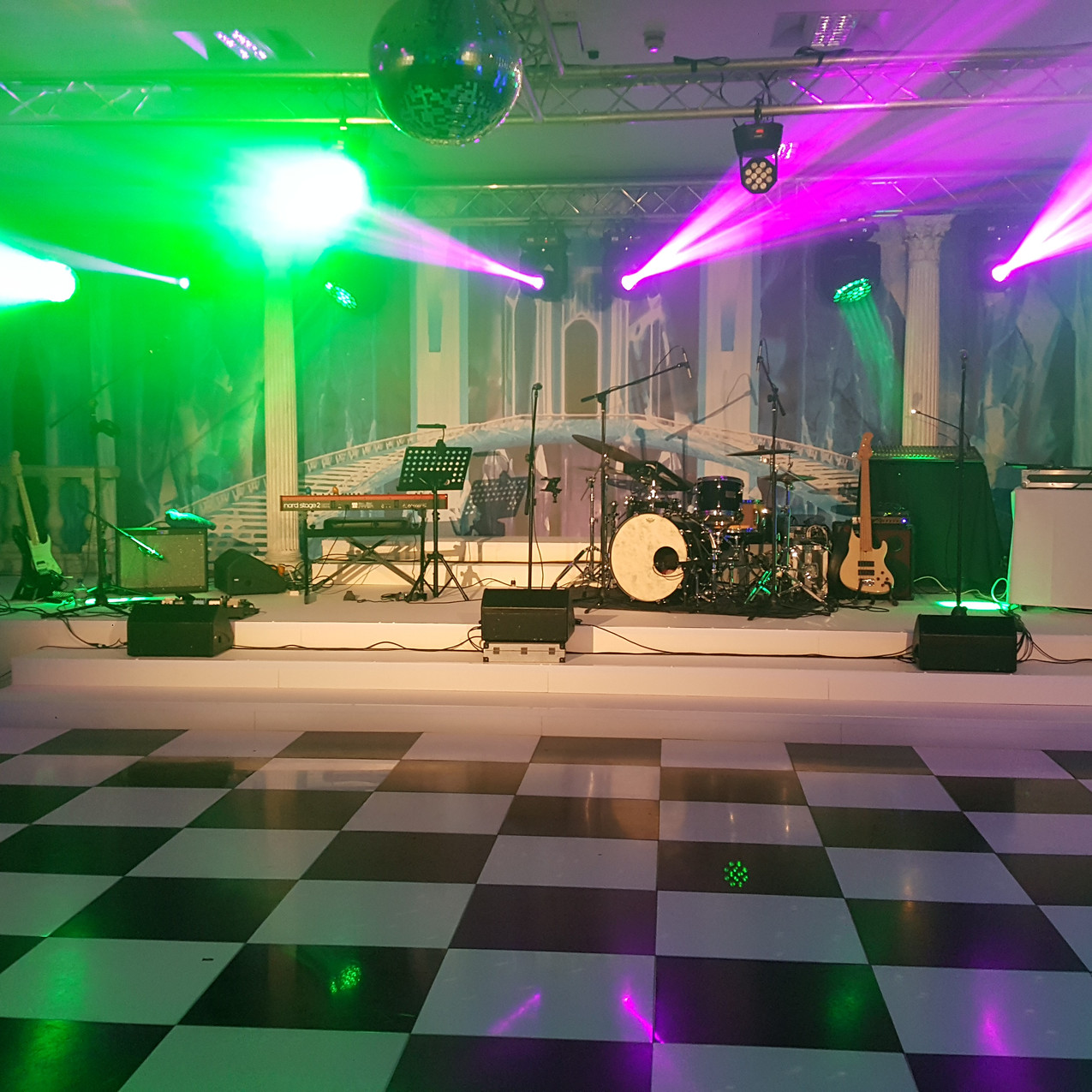 Narnia dance floor stage & backdrop