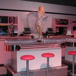 American Diner Bar Props