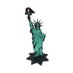 Numbered Statue of LIberty Table Centres