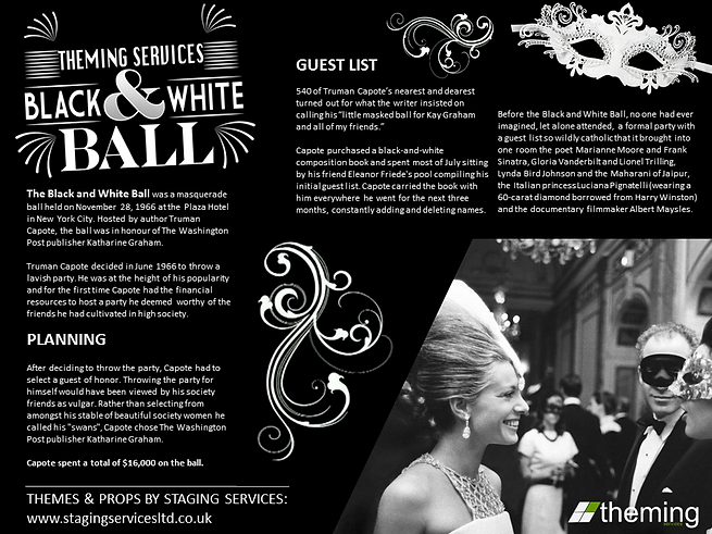 Black & White Fact Sheet Theming