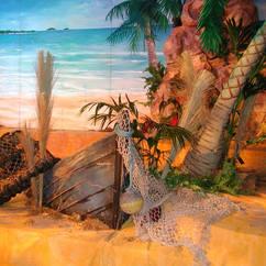 Sunken Boat Beach Scene Props
